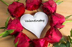 Valentinstag -德国词为ValentineÂ的天 库存图片