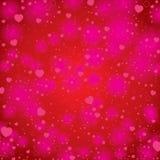 Valentinstag auf rotem Hintergrund Vektor-Valentinstaghintergrund Stockbilder