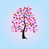 Valentinstag-Baum Stockfotos