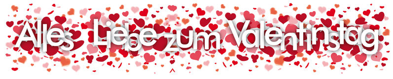 Valentinstag Confetti Hearts Header Royalty Free Stock Images