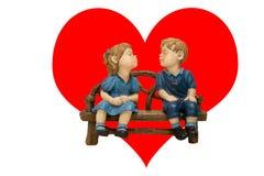 Valentinstag, eine Karte. Stockfotos