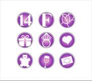 Valentinstag am 14. Februar Ikone Lizenzfreies Stockbild