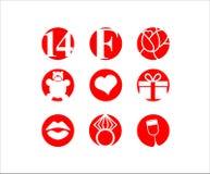 Valentinstag am 14. Februar Ikone Lizenzfreie Stockbilder