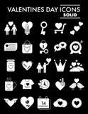 Valentinstag Glyph-Ikonensatz, Romanze Symbole Sammlung, Vektorskizzen, Logoillustrationen, Liebeszeichen fest vektor abbildung