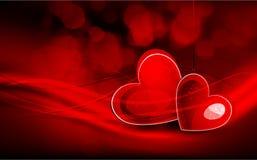 Valentinstag-Gruß-Karte Stockfotos