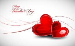 Valentinstag-Gruß-Karte Lizenzfreies Stockfoto
