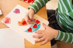 Valentinstag-Handwerk, Kunst Lizenzfreie Stockbilder