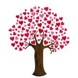 Valentinstag-Herzen auf Baum-Clipart Lizenzfreies Stockfoto