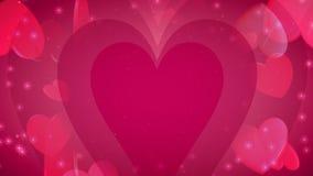 Valentinstag-Herzen der Liebe stock abbildung