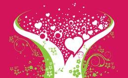 Valentinstag-Hintergrund lizenzfreie abbildung