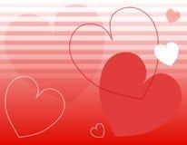 Valentinstag-Inner-Streifen-Hintergrund lizenzfreie abbildung