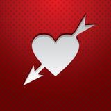 Valentinstag-Karte Stockfotos