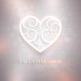Valentinstag-Karte lizenzfreie abbildung