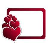 Valentinstag-Karte 6 stock abbildung