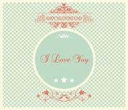Valentinstag-Karte - Illustration Stockfoto