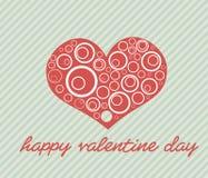 Valentinstag-Karte - Illustration Stockfotografie