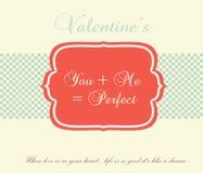Valentinstag-Karte - Illustration Stockbilder