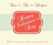 Valentinstag-Karte - Illustration Stockfotos
