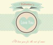Valentinstag-Karte - Illustration Lizenzfreies Stockfoto