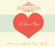 Valentinstag-Karte - Illustration Lizenzfreies Stockbild