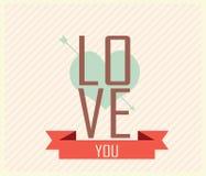 Valentinstag-Karte - Illustration Lizenzfreie Stockbilder