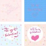 Valentinstag-Karten-Satz lizenzfreie abbildung