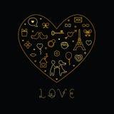 Valentinstag-Liebes-Karte Stockfoto