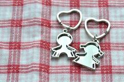 Valentinstag-Liebes-Schlüsselketten Stockbild