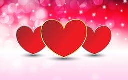 Valentinstag mit bokeh Hintergrundvektor lizenzfreie abbildung