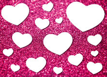 Valentinstag mit mehrfacher Herzform Lizenzfreies Stockfoto