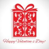 Valentinstag. Mustergeschenkbox. lizenzfreie abbildung
