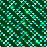 Valentinstag nahtlos mit glänzenden Pailletten Stockbild