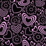 Valentinstag-nahtloser Hintergrund/Muster Stockfotos