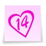 Valentinstag reminde Stockfoto