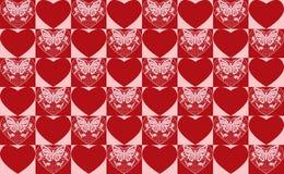 Valentinstag seamlss Muster. Stockfotos