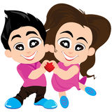 Valentinstag und Liebhaber lokalisiert auf weißem Hintergrund Vektor-Valentinstaghintergrund Lizenzfreie Stockfotos