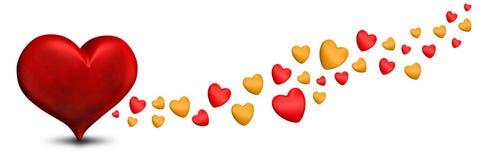 Valentinstag-Valentinsgrußherzen lizenzfreie abbildung