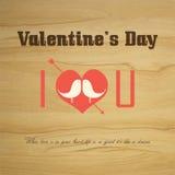 Valentinstag-Vektorweinleseaufkleber Stockbild