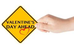 Valentinstag-voran Zeichen Lizenzfreies Stockfoto