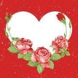 Valentinstag-Weinlese-Karte Lizenzfreies Stockbild