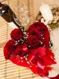Valentinstagblumenstrauß Stockbild