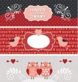 Valentinstagfahnen Lizenzfreie Stockfotos