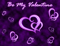 Valentinstaggrußkarte stockbild
