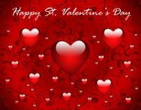 Valentinstaggrußkarte lizenzfreies stockbild