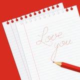 Valentinstaggrußkarte Stockfotografie