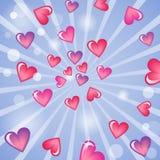 Valentinstaghintergrund mit Herzen Lizenzfreies Stockfoto