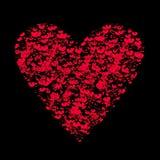 Valentinstaghintergrund mit Herzen und Anmerkungen Stockbild