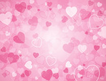Valentinstaghintergrund mit Inneren lizenzfreie abbildung