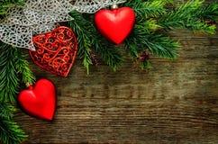 Valentinstaghintergrund mit Inneren Stockfotos