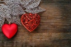 Valentinstaghintergrund mit Inneren Lizenzfreie Stockfotos